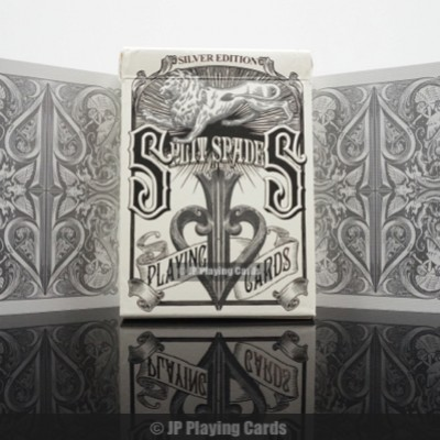 Silver Split Spades Playing Cards
