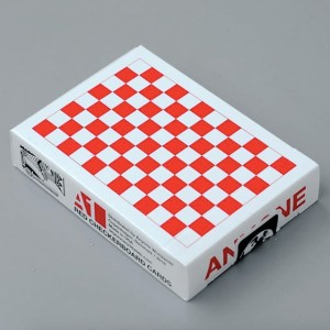 Checkerboard Playing Cards: Red / White
