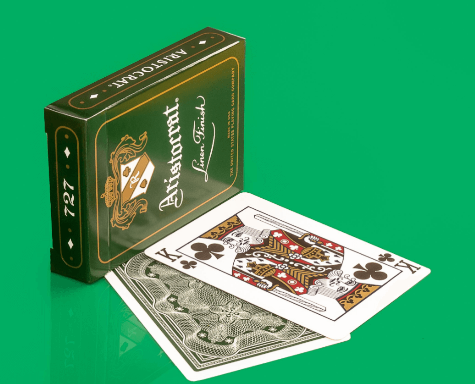 Aristocrat Green Edition Playing CardsPoker DeckCollectable