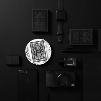 DKNG Black Wheel Playing Cards