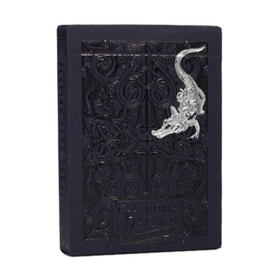Black Gatorbacks Playing Cards