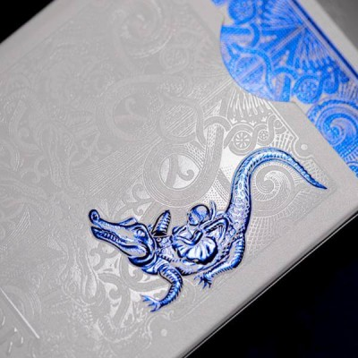 Blue Gatorbacks Playing Cards