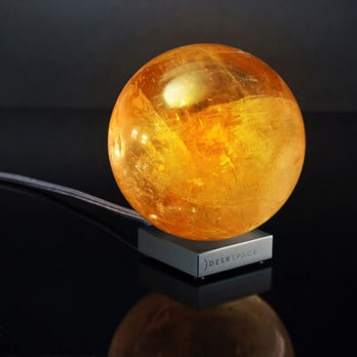 DeskSpace: Handcrafted Solar Sun Mood Lamp
