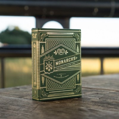Green Monarchs Playing Cards