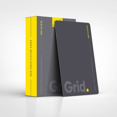 Grid Series One - Typographic Playing Cards