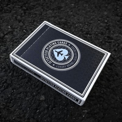 Jetsetter Playing Cards: Private Reserve Black