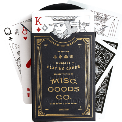 Misc Goods Co: Black Gold Playing Cards