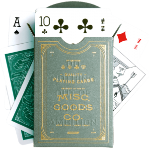 Misc Goods Co: Cacti Green Playing Cards