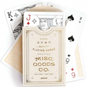 Misc Goods Co Playing Cards: Ivory