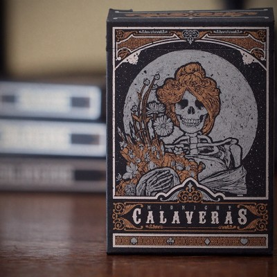 Midnight Calaveras Playing Cards