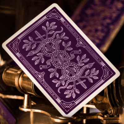 Purple Monarchs Playing Cards