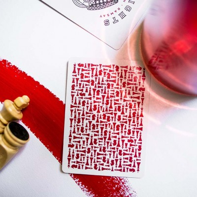 Red Knights Playing Cards