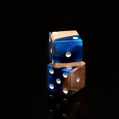Resin Wood Dice
