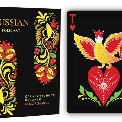 Russian Folk Art Playing Cards; Limited Edition