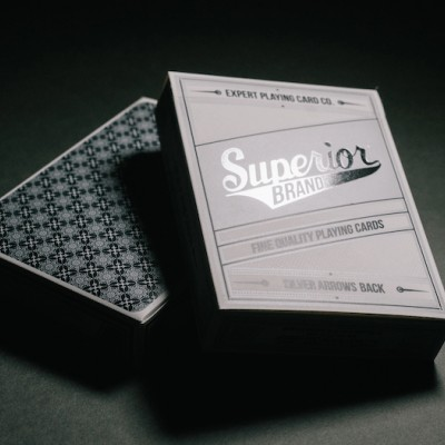 Superior Brand Playing Cards: Silver Arrows Poker Back