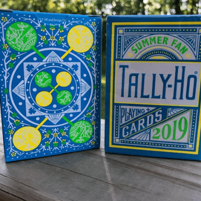 Tally Ho Playing Cards: Summer Fan Back