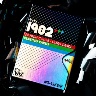 VHS 1982 Holographic Playing Cards