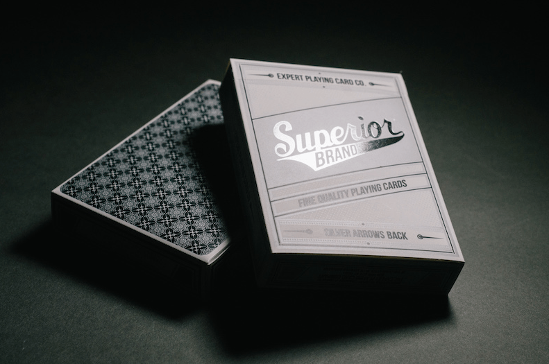 Superior brand playing cards silver arrows superior brand playing cards silver arrows poker back colourmoves Choice Image